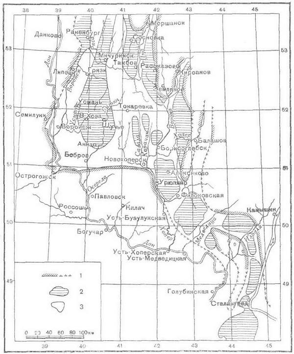 Схематическая карта древней