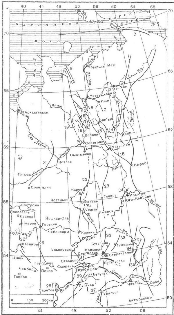 Схема тектонической связи