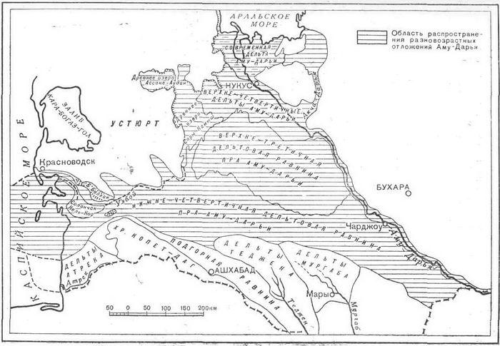 Палеогеографическая схема