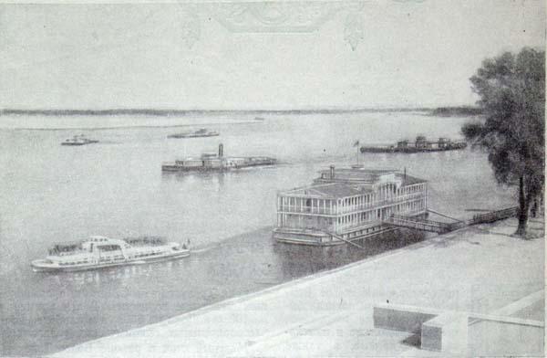 Волга в месте выхода канала